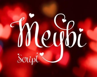 Meybi font, exclusive, handwritten font, hand lettered typeface, Commercial use, ttf, otf, Instant Download