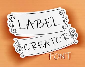 Label Creator font, creative framer font downloadable font, Commercial use, TTF, OTF, Instant Download