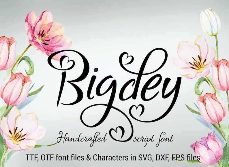 Bigdey font ttf otf svg dxf eps handwritten font hand image 0