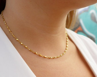 Dainty Gold Chain Necklace    Chain Necklace   Gold Necklace   Dainty Necklace   Minimalist Necklace   Thin Necklace   Delicate Necklace  
