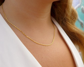 Dainty Gold Chain Necklace    Chain Necklace   Gold Necklace   Dainty Necklace   Minamalist Necklace   Thin Necklace   Delicate Necklace  