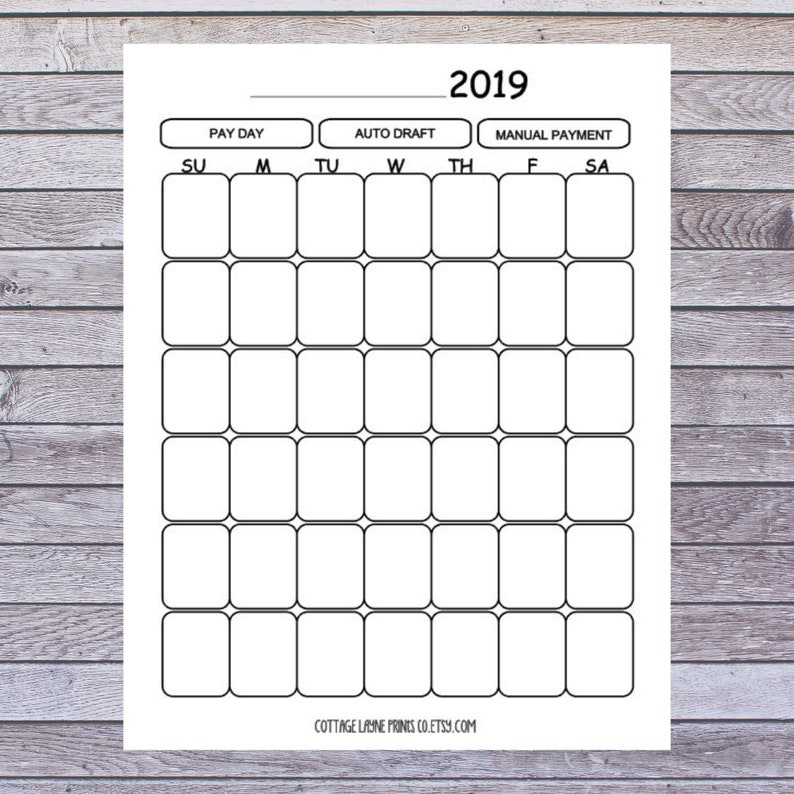 photo about Budget Calendar Printable known as Regular monthly Price range 2019-Printable- Undated- Calendar-Financal Coming up with- Letter Dimensions- PDF- Instantaneous Obtain-