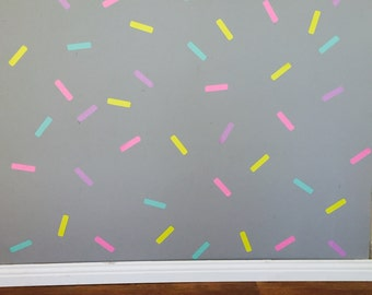 Sprinkles Wall decals/stickers - Removable vinyl wall decals/stickers