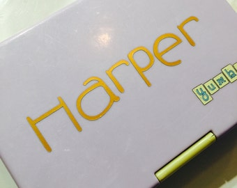 Personalised name labels - Waterproof vinyl - personalise your lunch box, drink bottle, anything!