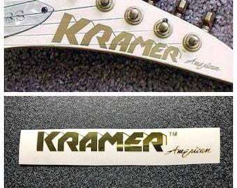 Kramer Guitar Vinyl Headstock Decal GOLD