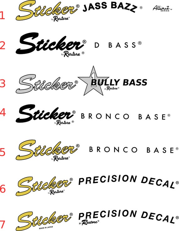 Guitar Waterslide Vintage Decals All Styles and All Years 2 per order