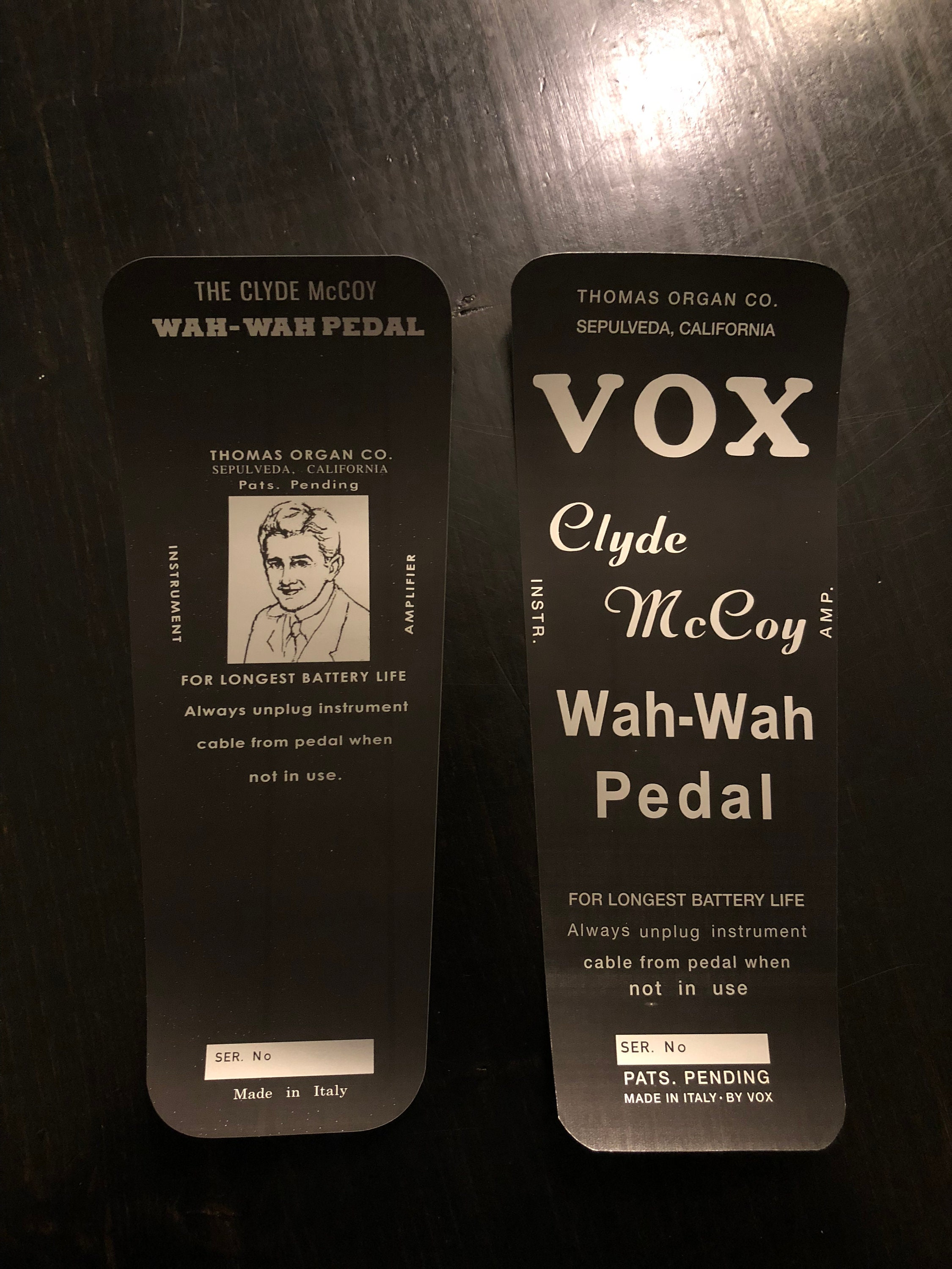 60s Vox Clyde Mccoy Picture Or Script Wah Pedal Bottom Etsy 1993 50