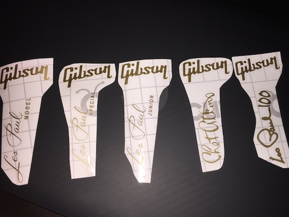 gibson les paul headstock decal logo all model l 5 special etsy. Black Bedroom Furniture Sets. Home Design Ideas