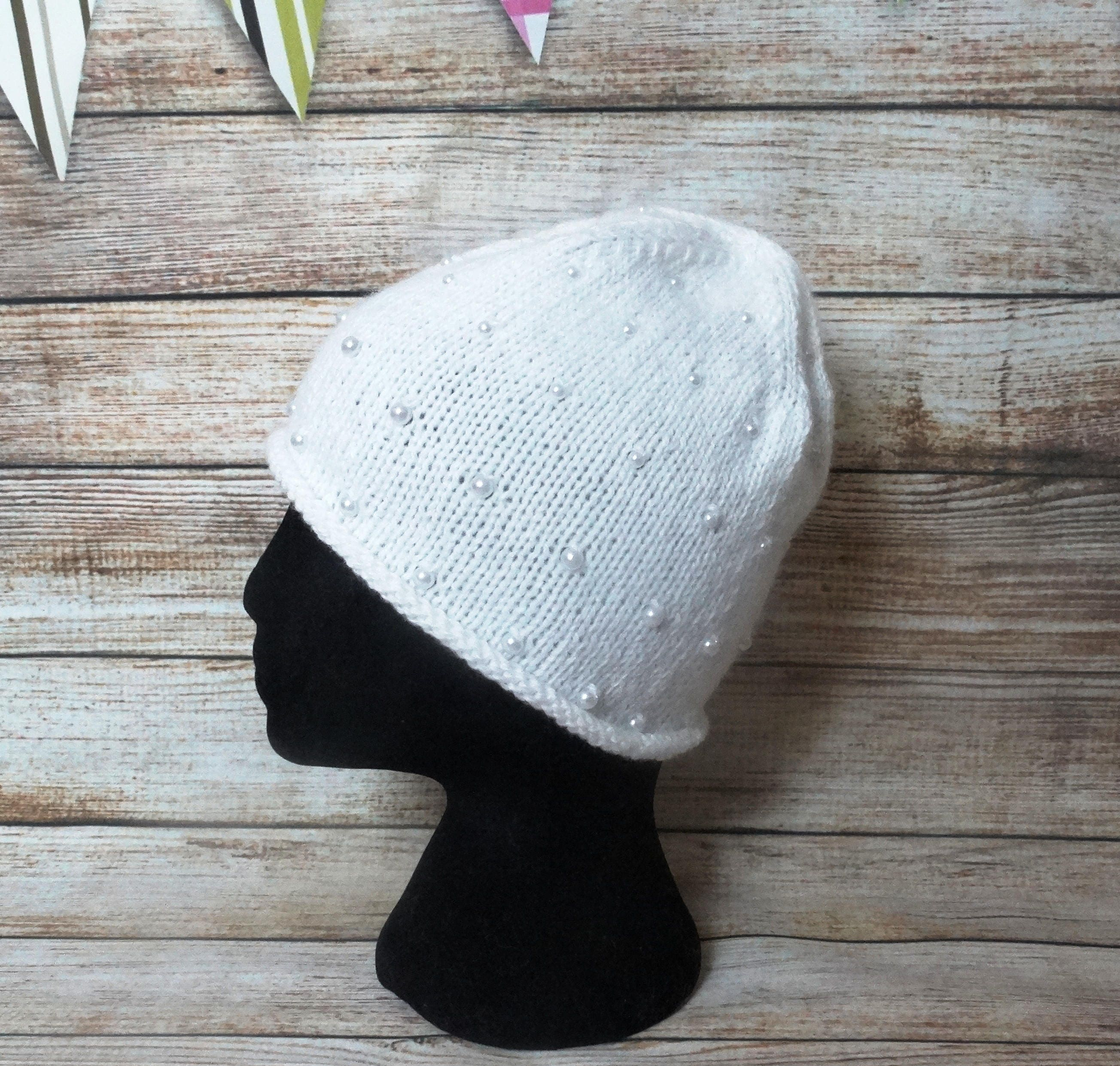 knit hat with pearls pearl knit hat margarite knit hat women  b0122571237