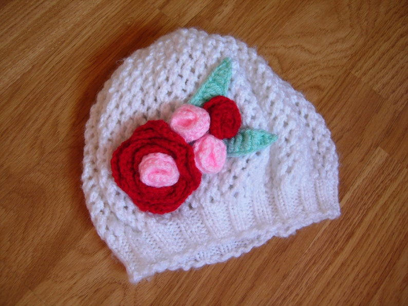 Bambino ragazza cappello all uncinetto uncinetto cappello  267ecf46806e