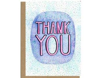 Thank You Card, Cute Thank You Card, Thanks Card, Colorful Thank You, Mentor Thank You, Teacher Thank You, Boss Thank You, Wedding Thank You