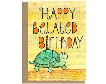 Belated Birthday Card, Late Birthday, Belated Birthday, Happy Belated Birthday, Missed Birthday, Belated Bday, Forgot Birthday