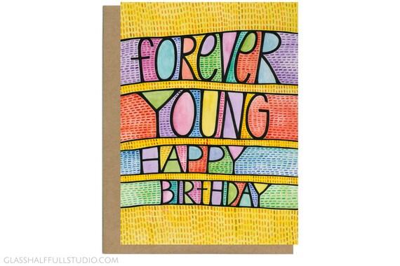 Fur Immer Jung Karte Geburtstag Karte Mama Geburtstag Karte Etsy
