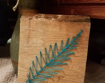 Rustic Feather string art