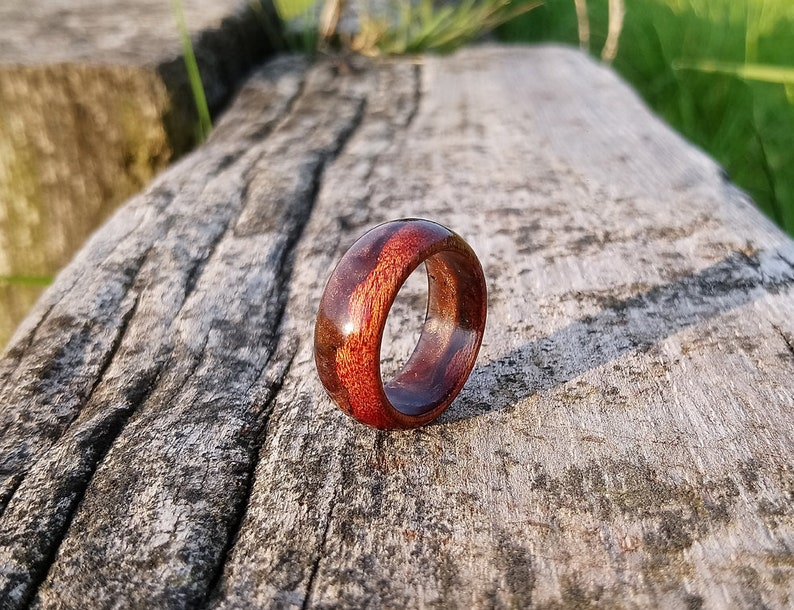 Brown ring Unisex ring Resin jewellery Brown resin ring size 10