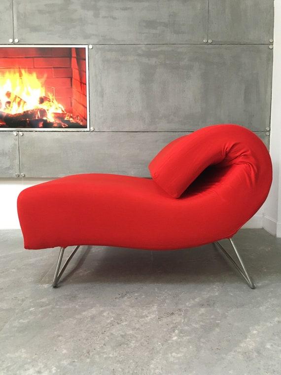 Superb Unique Design Vintage Red Sofa Chaise Longue Pascal Mourgue Lover Ligne Roset Machost Co Dining Chair Design Ideas Machostcouk