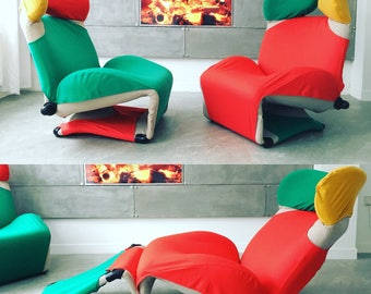 Design Unique Vintage Wink Chaise Chair by Kita Toshiyuki for Cassina, 1970s