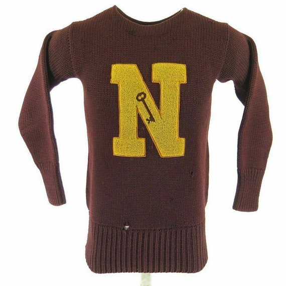 Vintage 40s college letterman sweater