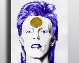 Poster david bowie, ziggy stardust, Illustration, Art, Poster, biro,  art et collection, music, portrait, realism, pop icone