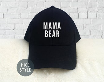 84b7a124ec3 Mama Bear Dad Hat Embroidered Mother day Baseball Cap Low Profile Custom  Strap Back Unisex Adjustable Strap Baseball Hat