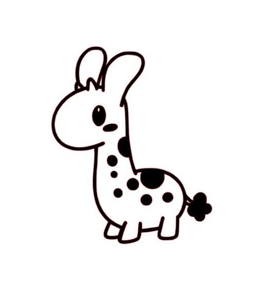 Giraffe Vinyl Decal Etsy