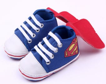e8e0a4b87865 Baby Boy inspired Superman Crib shoes