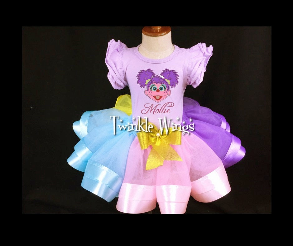 First Birthday Outfit Abby Cadabby Sesame Street Birthday Outfit