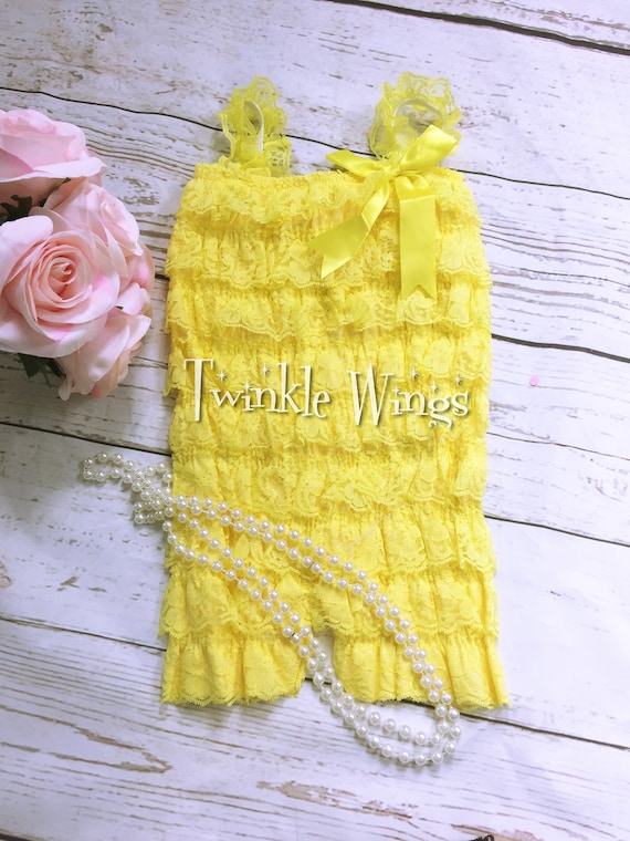 7a6f8e4e77a2 Baby Romper yellow Cake Smash Outfit Baby girl 1st birthday