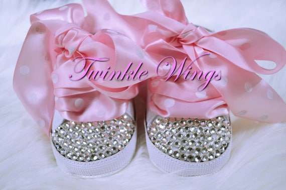 d95fa88a6c4ac Shoes Converse baby girl Swarovski Rhinestone Diamond crystals bling  Sparkle Fancy baby Please Add baby shoes to my Birthday outfit