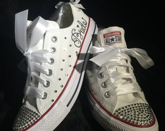 Blinged Out Wedding Shoes/Converses For Bride