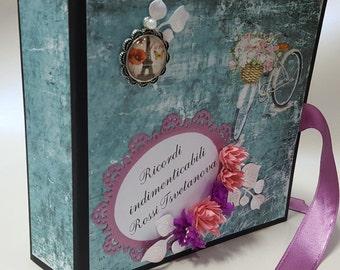scrapbook vintage album,vintage photo album, memory photo book