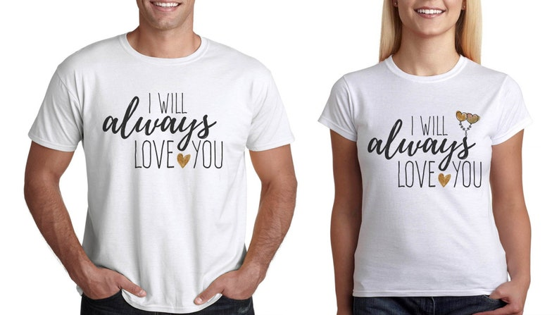 880f680157 T-shirts for couples in love valentine T-shirt for him and | Etsy