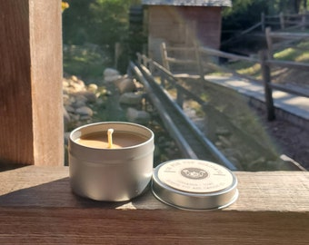 """SOY CANDLE - """"Om for the Holidays"""" Cinnamon + Chai"""