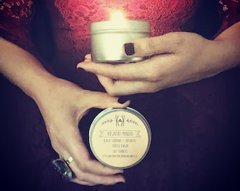 """SOY CANDLE: """"Absinthe-minded"""" - Black currant + absinthe"""