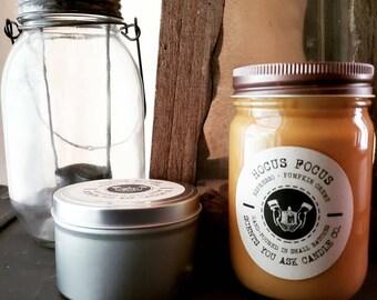 "Soy Candle ""Hocus Focus"": espresso + pumpkin creme"