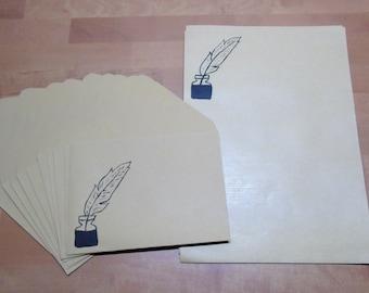 Stationery Set Pen & Ink • Letter = Letter = Letter = Letter = Gift