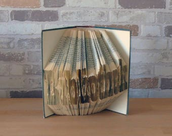 Folded book library//Bookfolding//decoration//Book art//book type//Gift