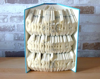 Folded book-good books are always far too short//book-Bookfolding//gift//saying//Deokraton