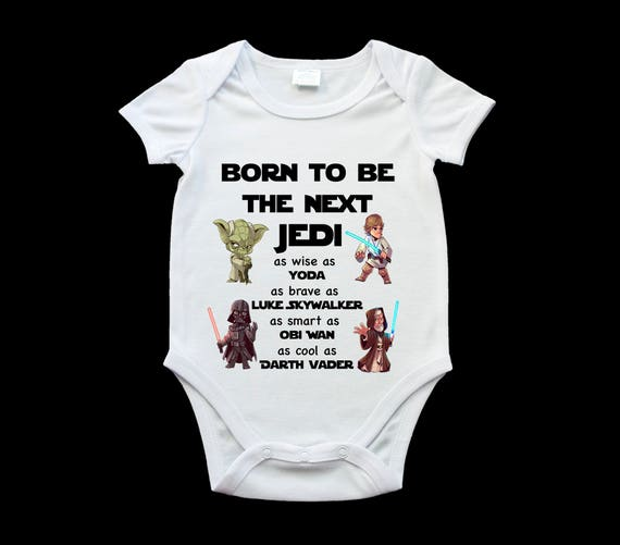 6c9ace43301e Funny Star Wars next Jedi baby onesie romper suit