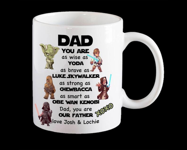 PapaDe Avec Le Sky Star Wars YodaDarth Pères Drôle WalkerObe Fête Des Personnalisé MugTasse VaderChewbaccaLuke Wan Papa Pour TJFlK1c