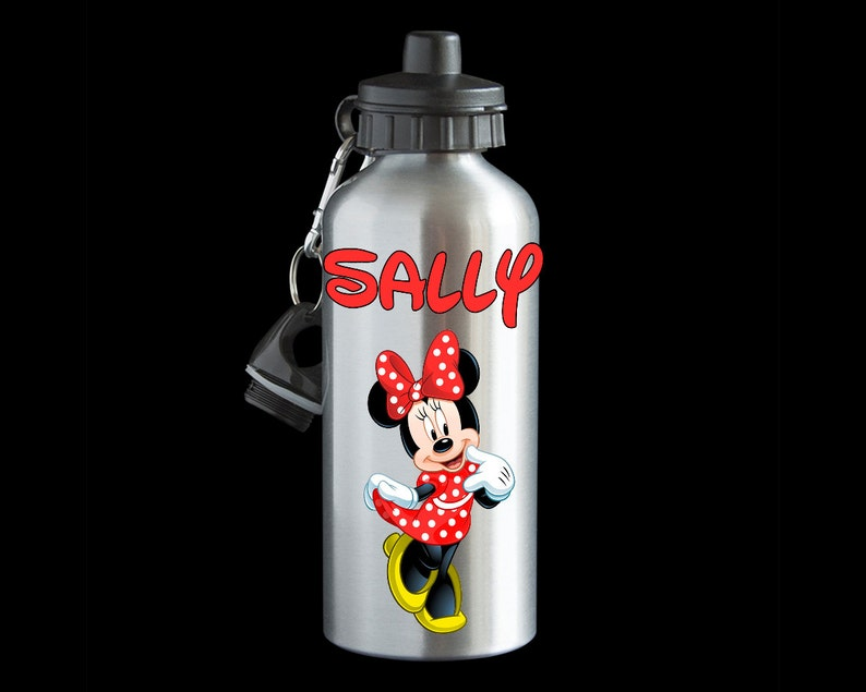 c556853962 Minnie Mouse Personalised Water Bottle Aluminium Water | Etsy
