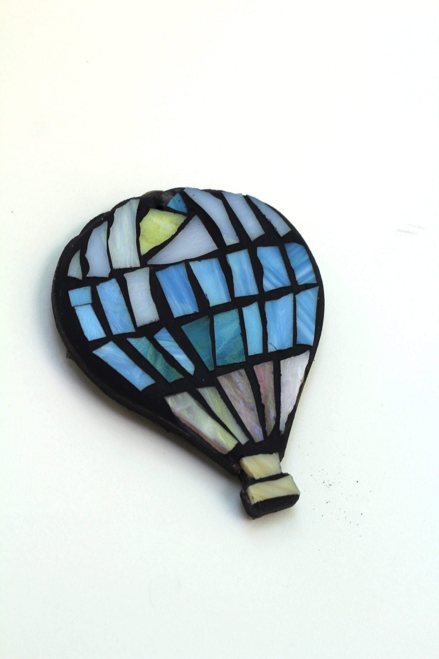 Hot Air Balloon Wind Spinner Garden Decor Stained Glass Etsy