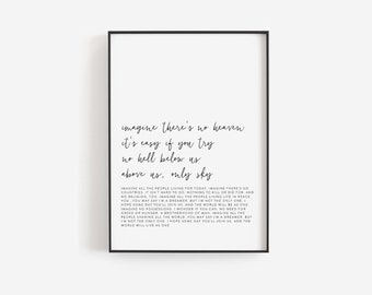 Song Lyrics Wall Art Etsy