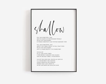 Song Lyrics Print Etsy
