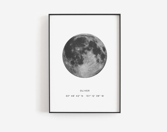 Valentines Day Gift Moon Print Template Phase