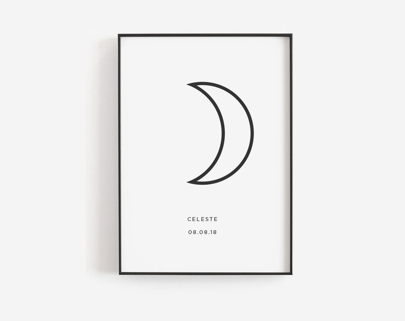 image about Moon Printable identify Moon printable artwork, Low moon art, Moon nursery artwork, Waning moon print, Nursery print Do-it-yourself, Moon stages mounted, Preset of 3 moon prints