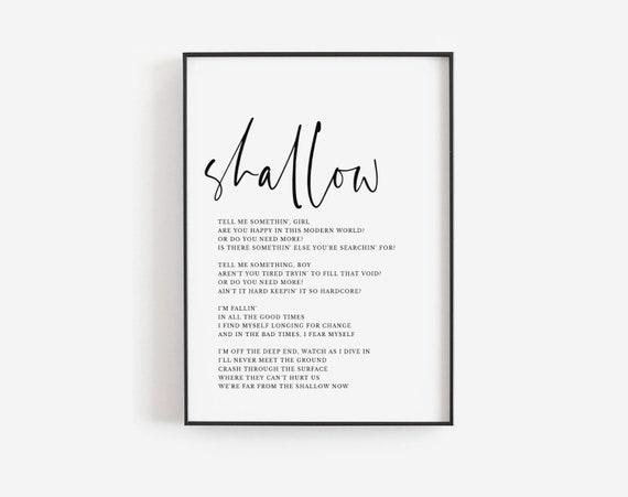 A Star Is Born Song Lyrics Wall Art Song Lyrics Art Song