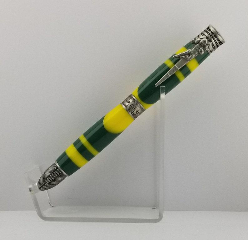 Handmade Green Bay Packers Inspired Refillable Pen