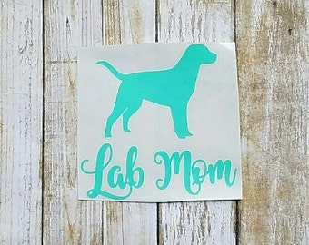 Fur Mom Vinyl Decal - Lab Mom - Puppy - Cup Decal - Tumbler Decal - Car Decal - Pet Lover - Pet Parent - Dog Lover - Mothers Day - Dog Mom