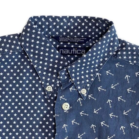 NWT Vintage Nautica Button Down Shirt - image 3